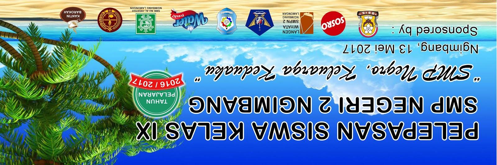 Banner Pelepasan Siswa kelas 9