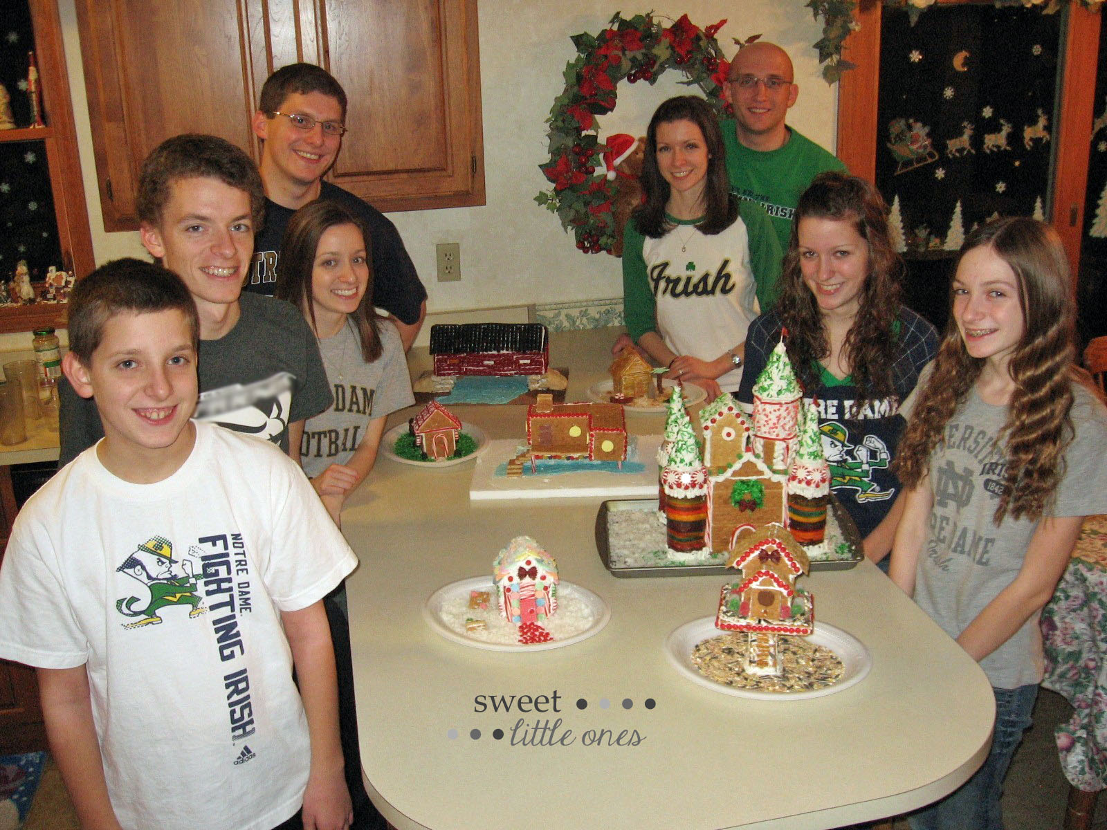Favorite Family Christmas Traditions - Gingerbread House Making Party - www.sweetlittleonesblog.com