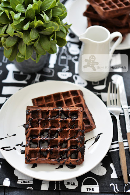 easy crispy chocolate buttermilk waffles