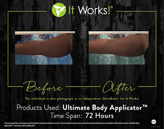 It Works body wrap results before and after pic