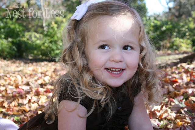 ... three year old little girl with long blond hair in ringlet curls, I'm  always looking for a new way to organize her hair bows.