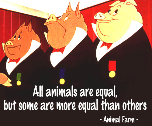 all animals equal No, they all serve a different purpose or yes, because they all serve purposes.