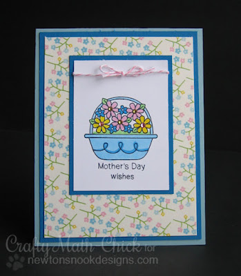 Floral Mother's Day Card by Crafty Math Chick | Basket of Wishes by Newton's Nook Designs