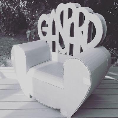 fauteuil club en carton