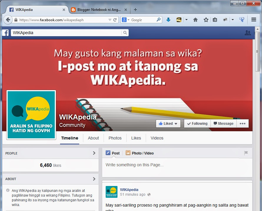 WIKApedia Facebook Fanpage