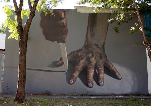 New Street Art Collaboration in Buenos Aires, Argentina by Franco Fasoli aka JAZ and Axel Void. 1