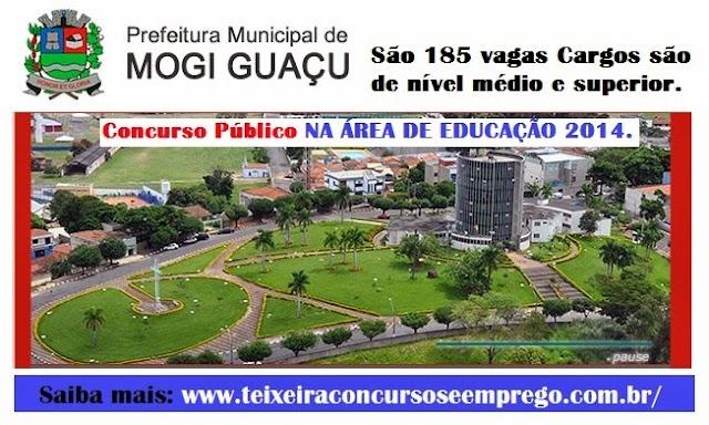 Prefeitura de Mogi Guaçu abriu Processo Seletivo