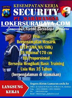 Lowongan Kerja di PT. Mahawangsa Surabaya Terbaru Mei 2019
