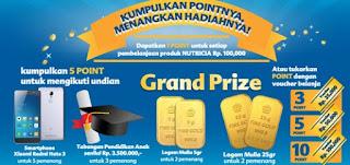 Point Race Nutricia Alfamart Berhadiah Total Puluhan juta Rupiah