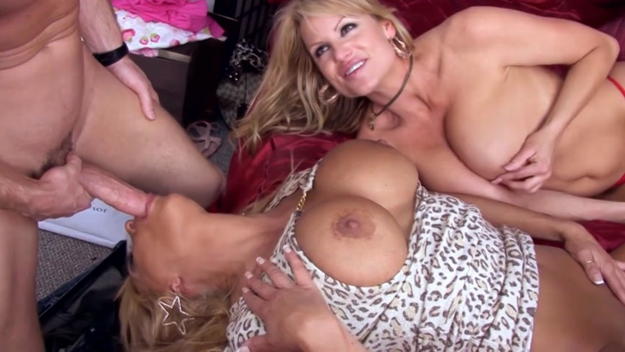 Busty blonde sammy blows cock while on 69 8