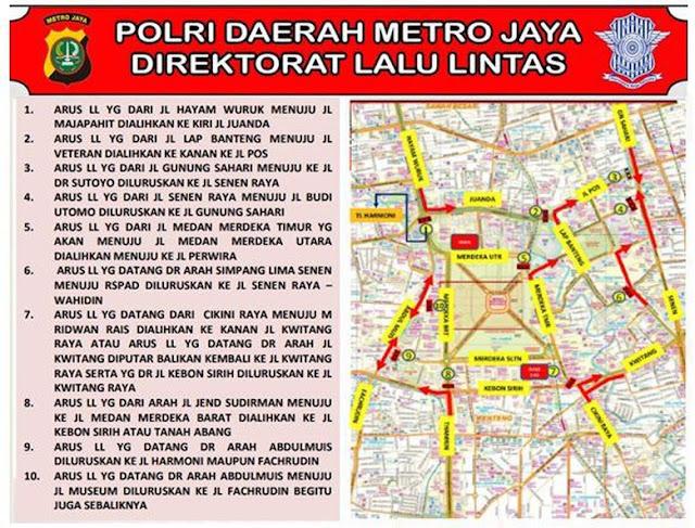 Ada Demo di Depan Istana, Polisi Siapkan Rekayasa Lalu Lintas