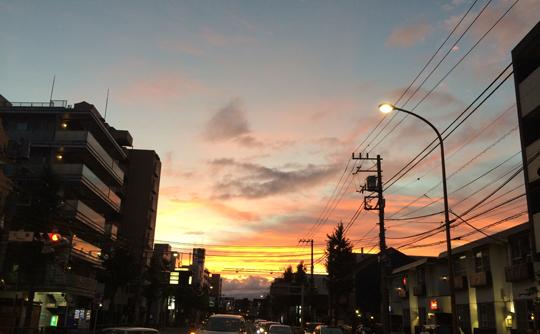 2016年最後の日没……ではありません。