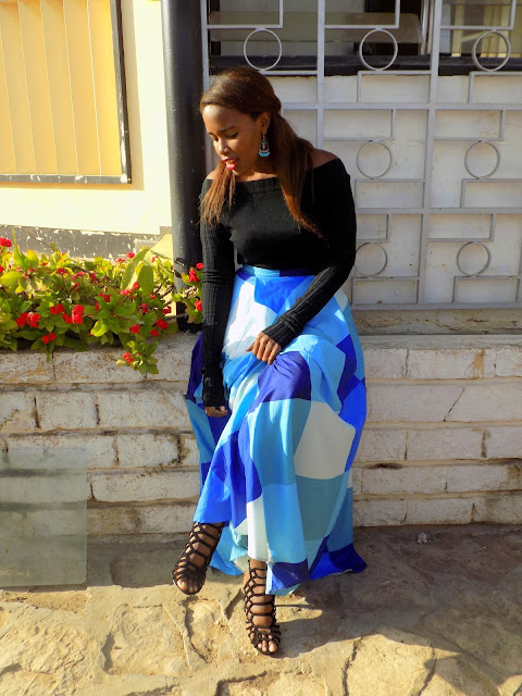 FashionDRA | Lookbook : Glamour With A Maxi Skirt