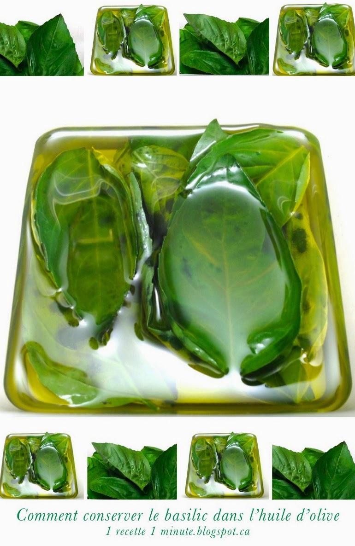 1 technique de cuisine comment conserver le basilic frais dans l 39 huile d 39 olive. Black Bedroom Furniture Sets. Home Design Ideas