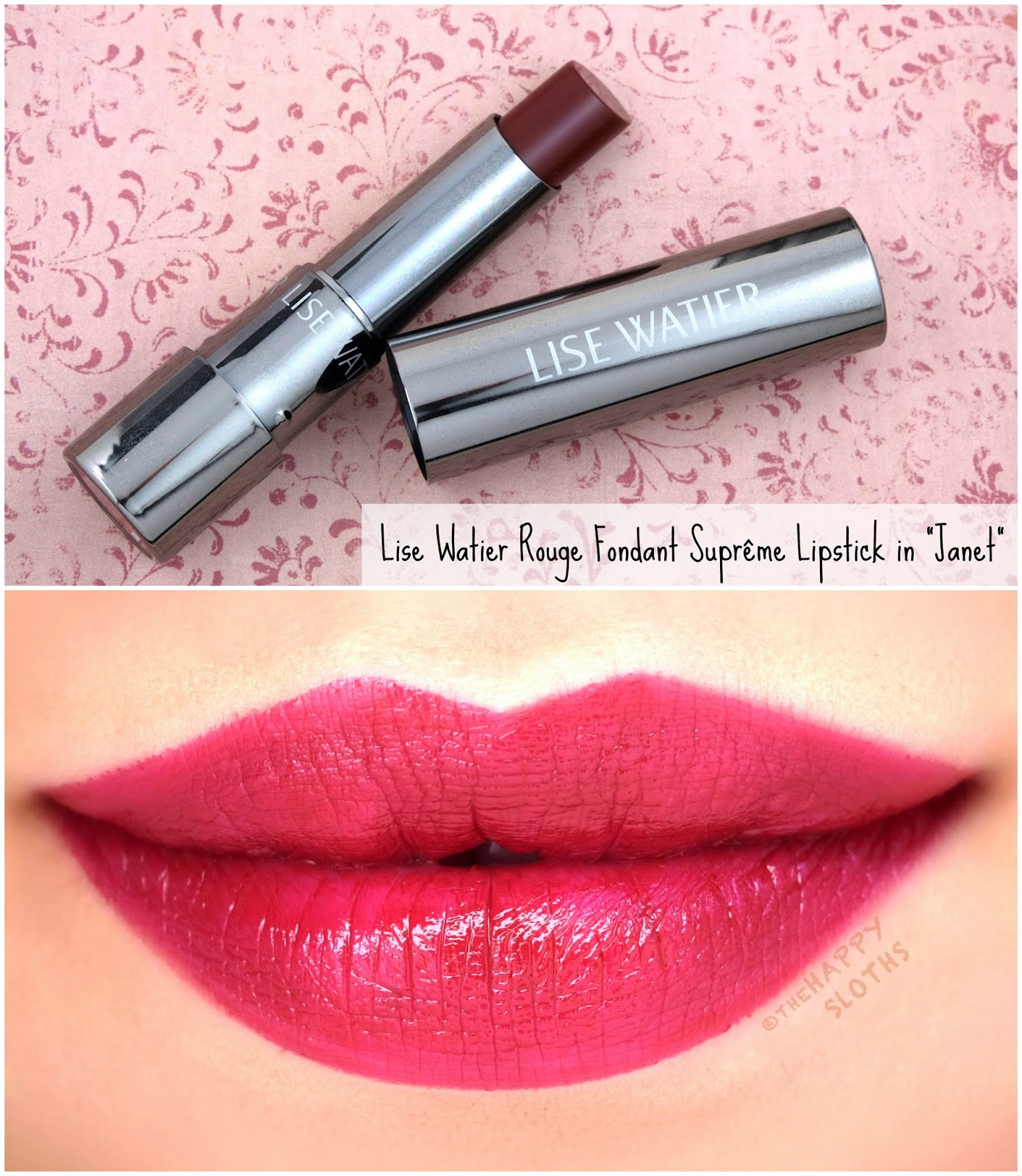 "Lise Watier | *NEW SHADES* Rouge Fondant Suprême Lipstick in ""Janet"": Review and Swatches"
