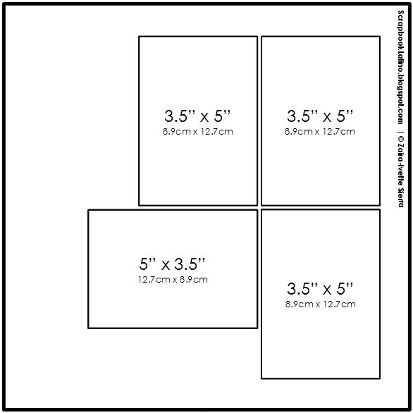 10 técnicas para multiplicar tus bocetos de scrapbooking: Técnica # 2, Ejemplo 3