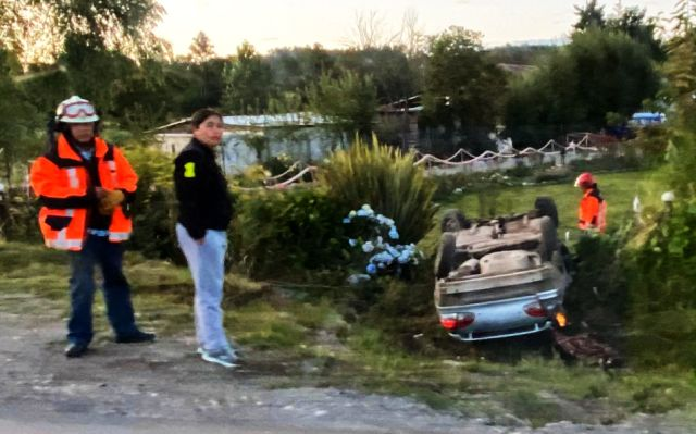 Lago Ranco: Accidente vehícular en el sector de Chamul