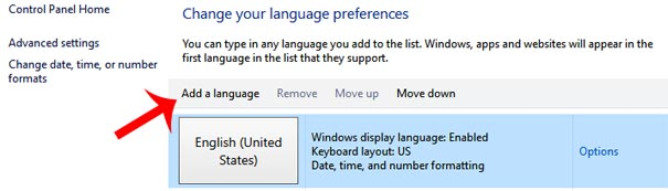 How to change keyboard language in Windows Computer