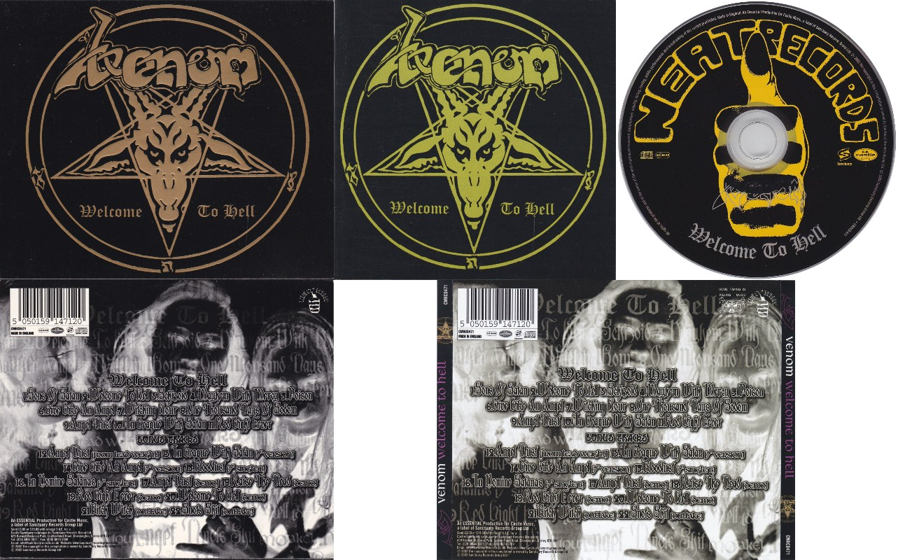 Venom welcome to hell singles