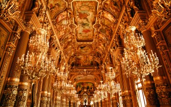 Wallpaper: Inside Opera House in Paris