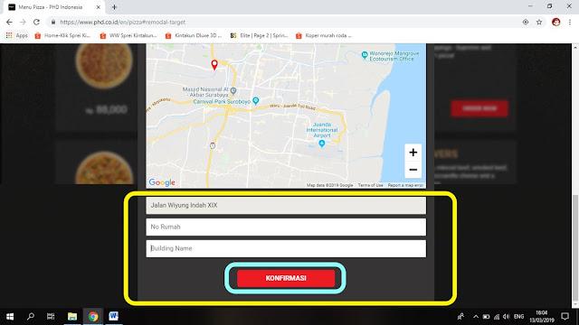Cara Mudah Order Pizza Hut Delivery Online