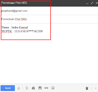 Info Cara Mengetahui dan Mencetak Bukti Penerbitan NRG Dari GTK Kemdikbud 2017