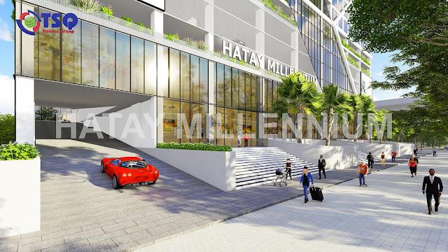 Tầng 1 với chuỗi trung tâm thương mại sang trọng