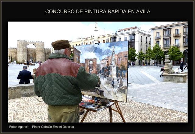 AVILA-CONCURSO-PINTURA-FOTOS-AGENCIA-PINTOR-ERNEST DESCALS-PLAZA DE SANTA TERESA-PINTORES-PINTANDO-PAISAJES