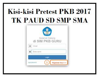 Kisi-kisi Pretest PKB 2017 TK PAUD SD SMP SMA