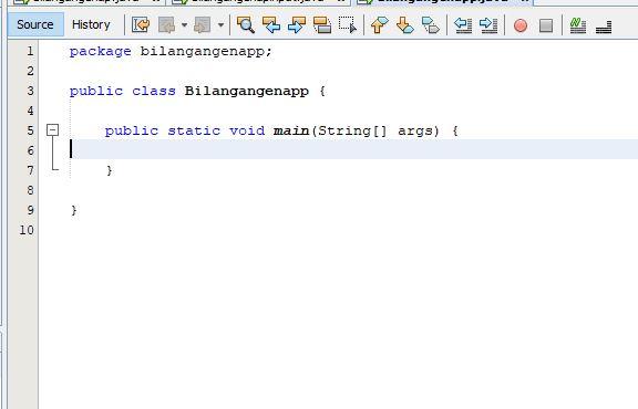 memulai membuat program java menampilkan deret bilangan genap