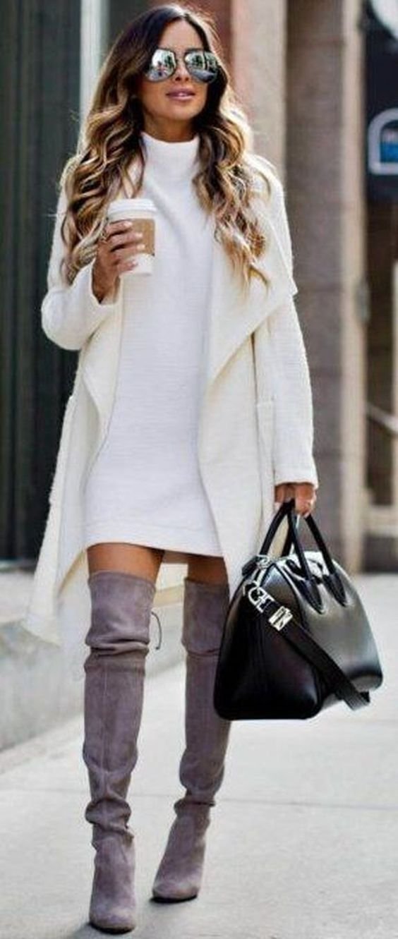TRENDY IDEAS OVER THE KNEE BOOTS FOR WINTER AND FALL OUTFITS