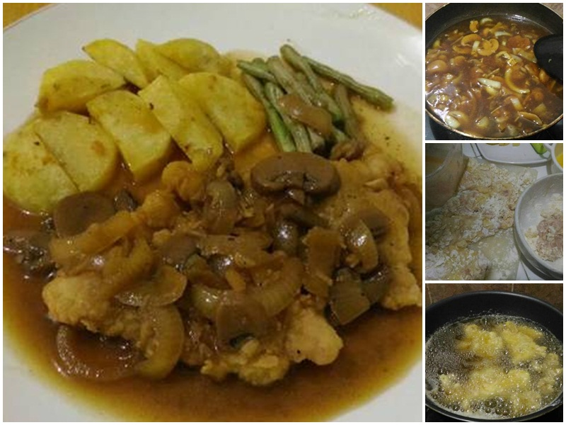 Resep Crispy Chicken Steak With Mushroom Sauce Kreasikan