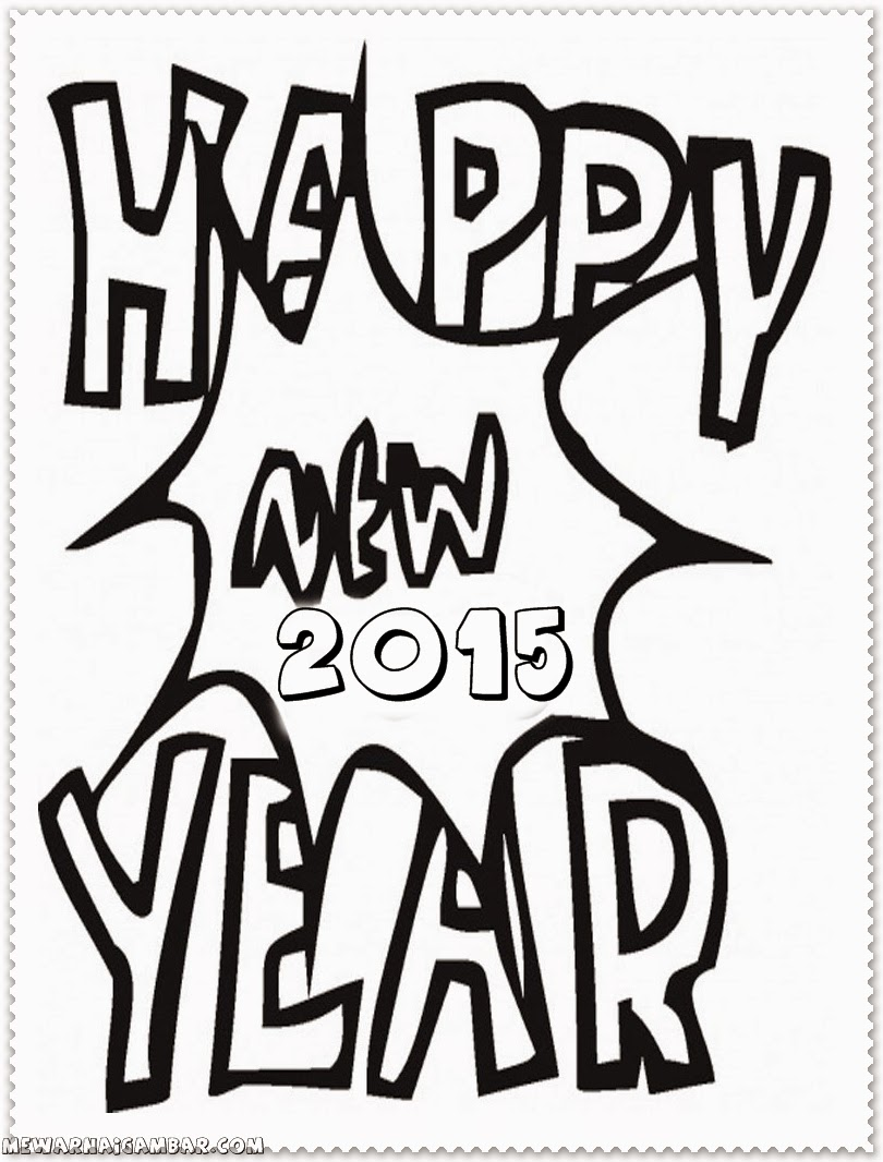 new year coloring pages for toddlers
