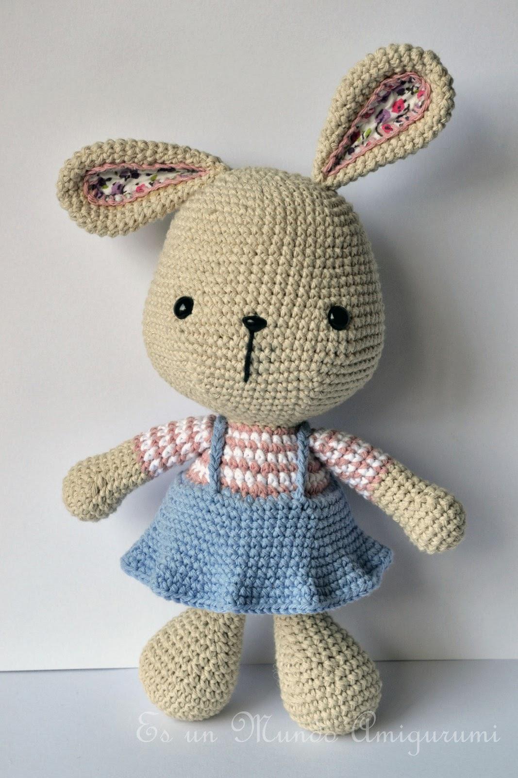 Es Un Mundo Amigurumi Coneja Pascua Grande