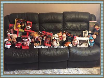 petit kiki aux yeux marrons, monchhichi, bebichhichi, kiki le vrai, ajena, sekiguchi, collecter, vintage, jouets, toys