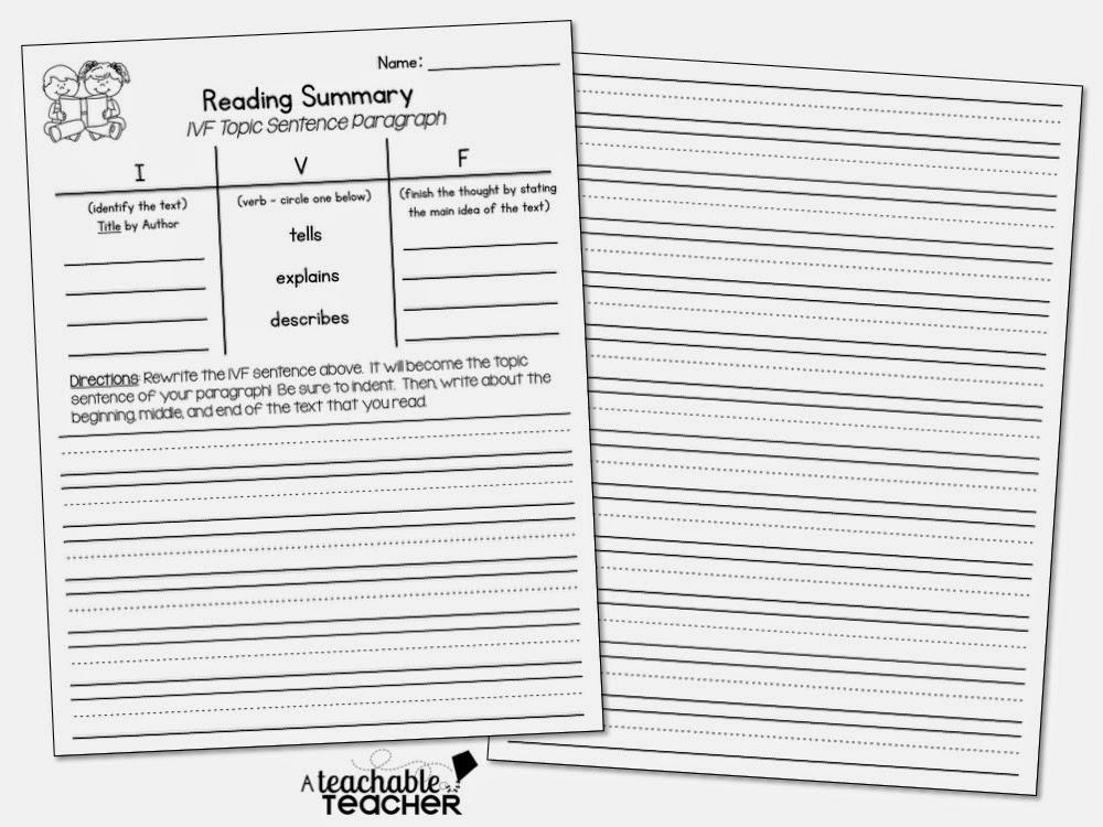 A Teachable Teacher: I.V.F. Summary Sentences