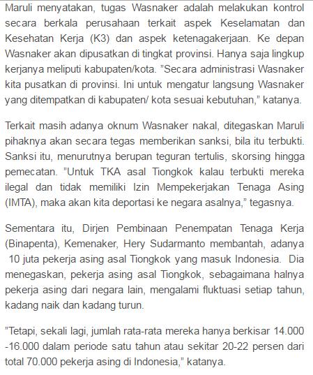 Nah Loh Kemenaker Saja Sudah MengAkui Jika Mereka Kebobolan Soal Buruh Tiongkok yang masuk secara Ilegal Ke Indonesia, Kok Situ masih Gak Percaya ? - Commando