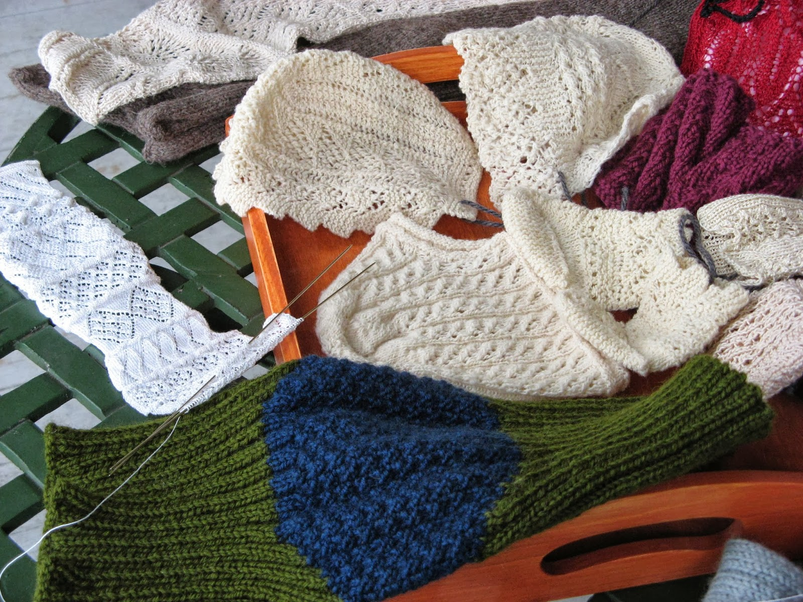 Knitting Household Items : One more stitch portfolio for knitted items