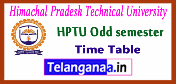 HPTU Himachal Pradesh Technical University B.Tech 1st 3rd 5th 7th semester Time Table 2017 Admit Card