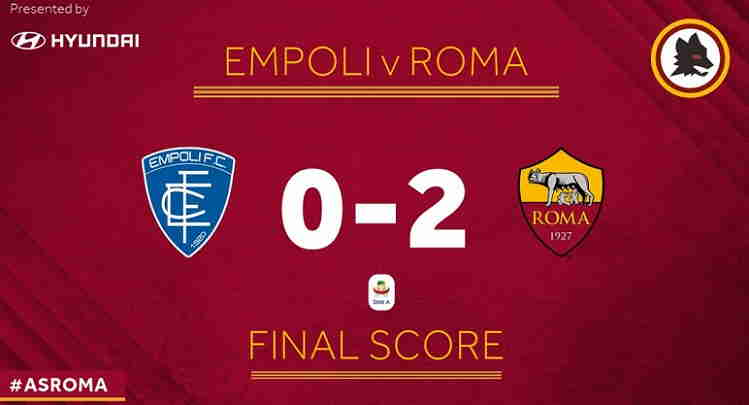 Hasil Empoli vs AS Roma Skor Akhir 0-2