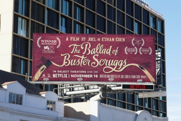 Ballad of Buster Scruggs movie billboard