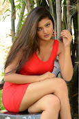 Poojitha sizzling in red dress-thumbnail-19