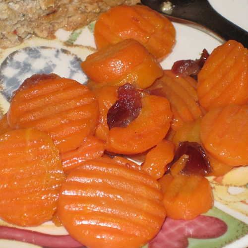 glazed carrots with cranberries