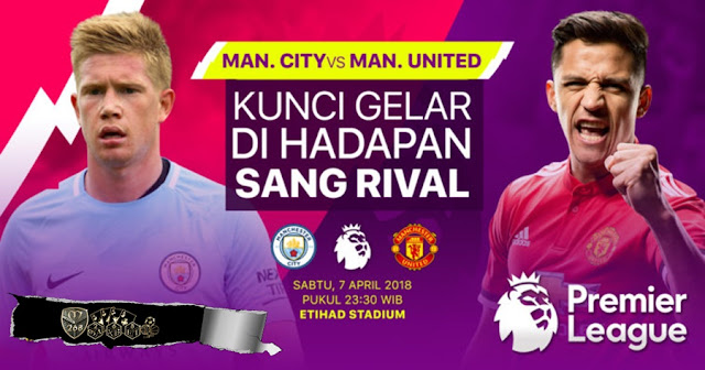 Prediksi Manchester City Vs Manchester United, Sabtu 07 April 2018 Pukul 23.30 WIB @ RCTI