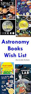 Astronomy Books wish list from In Our Pond