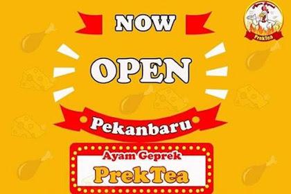 Lowongan Kerja Ayam Geprek PrekTea Pekanbaru November 2018
