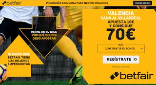 betfair supercuota Valencia gana Villareal 18 abril 2019