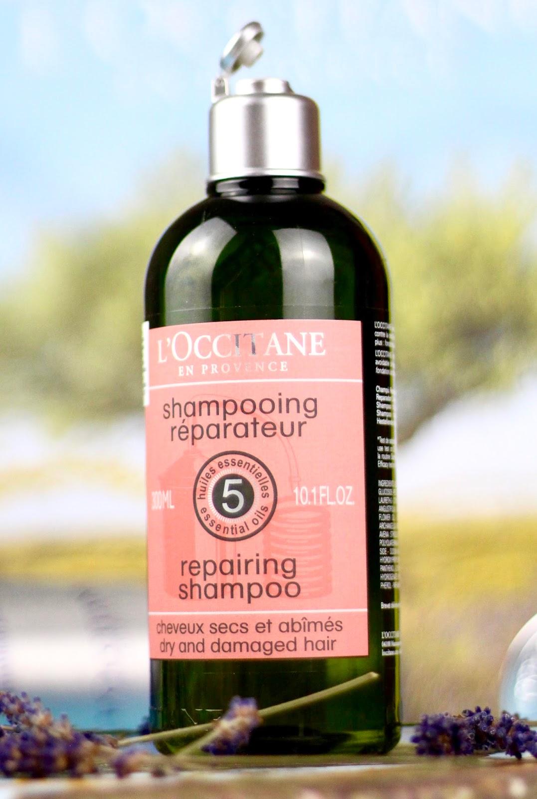 regenerujuci šampón na zničene vlasy loccitane