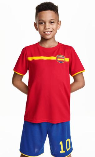 camiseta y pantalón de fútbol España para niños H&M