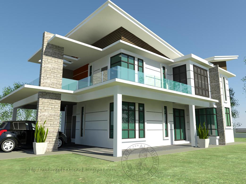 30 Gambar Rumah Banglo